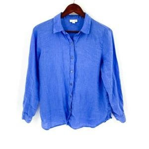 J. Jill Linen Button Front Shirt
